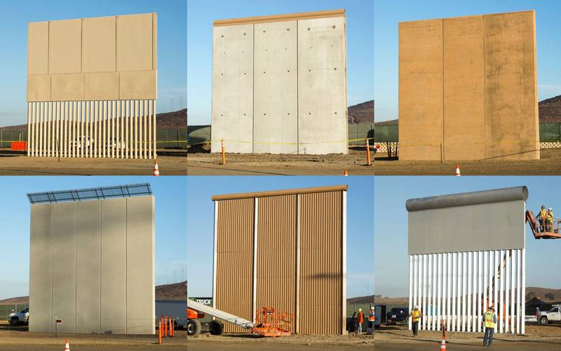 U.S.—Mexico Border Wall Prototype Construction. Source: U.S. Customs and Border Protection, 2017