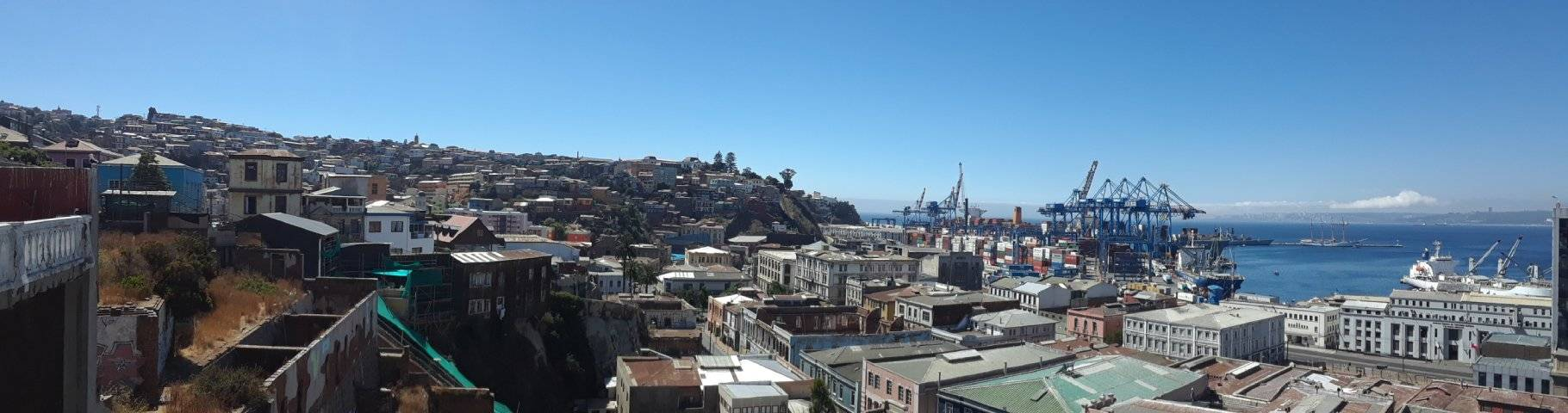 A view of Valparaiso from a hillside location
