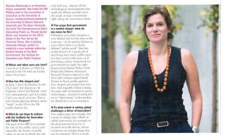 Times Higher Education Mariana Mazzucato interview