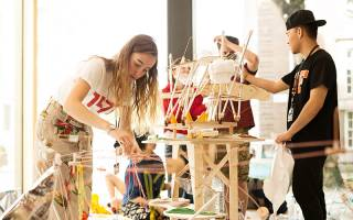 Architecture students at summer show