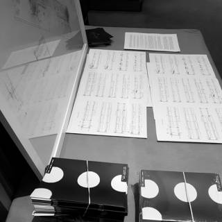 Sheet music and other items from the Time | Making | Space event at the Royal Academy