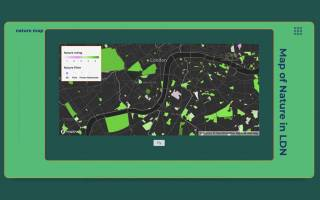 A screengrab of a 'Bring your own map' project by CASA students Vishal and Aude