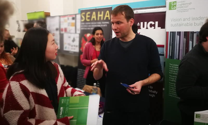 Answering questions at the Open Day