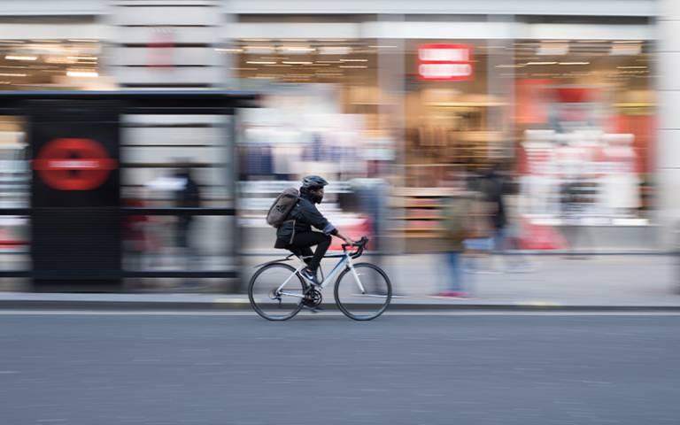 cyclist blurred