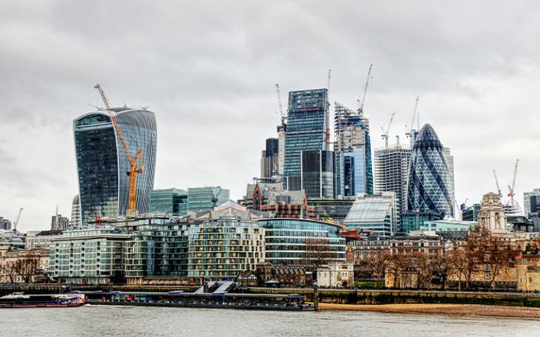 City of London from the south bank of the river