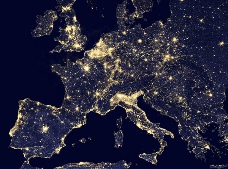 EU at night