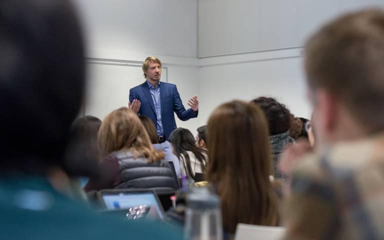 Nino Jordan giving lecture
