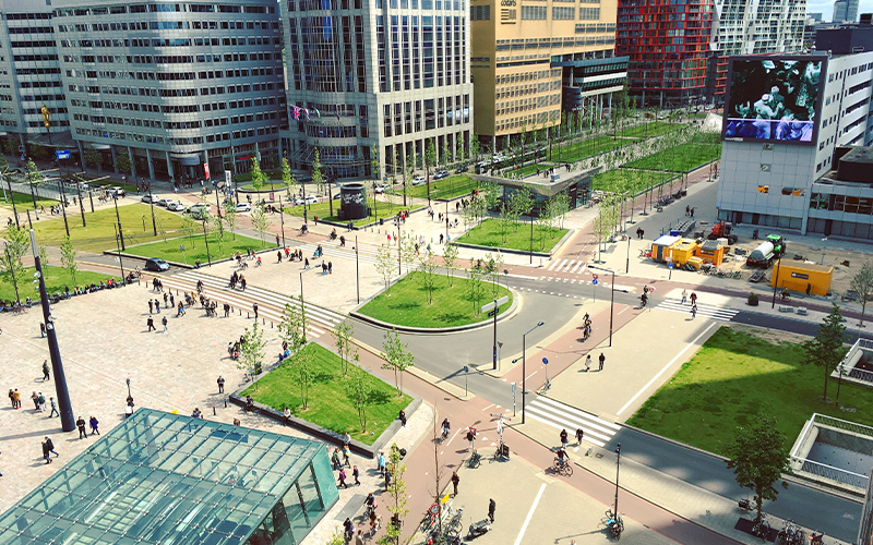 City centre green spaces