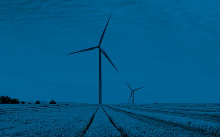 ISR annual review cover - wind turbine in field