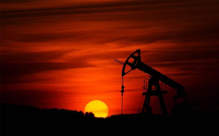 Crude oil sunset