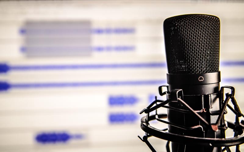 Black Recording microphone