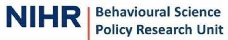 NIHR Behavioural Science PRU logo
