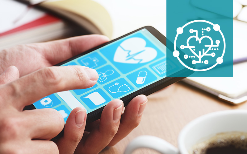 Mobile phone with digital health app