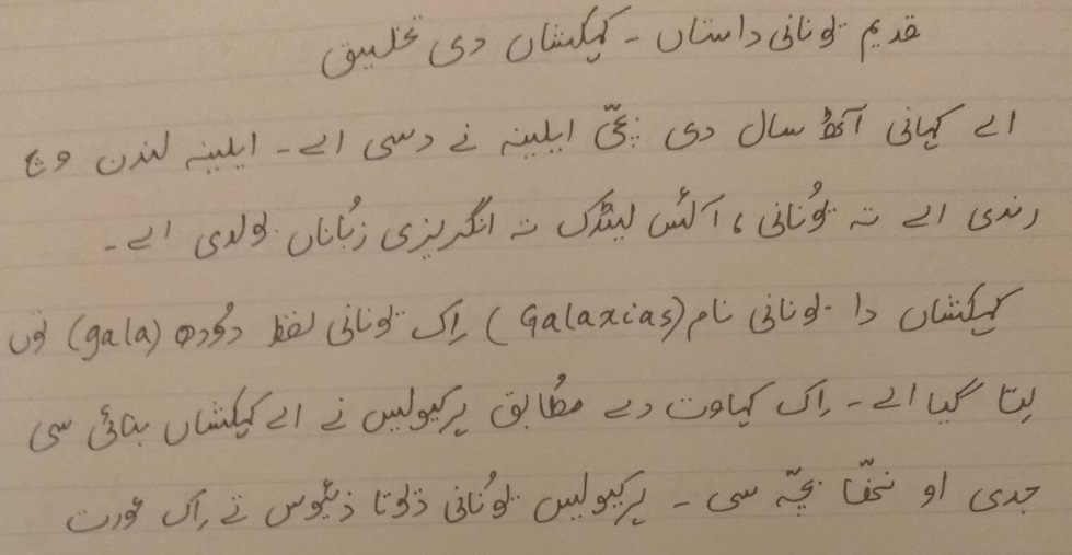 Story of the Milky Way Translated in to Punjabi