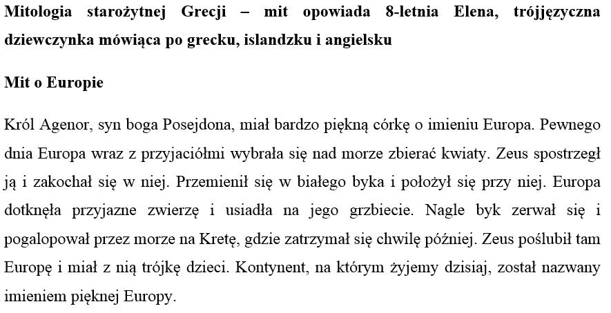 text in polish