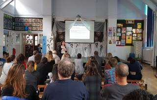 talk at the Clube dos Brasileirinhos