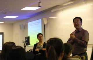 Froso Argyri and Li Wei speaking at the UCL Festival of Culture
