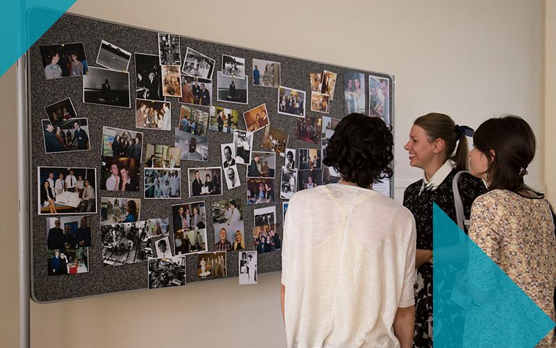 Biochemical engineering alumni at photo board