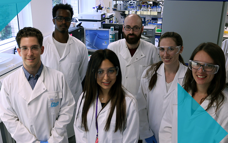 Students in UCL Biochemical Engineering laboratory