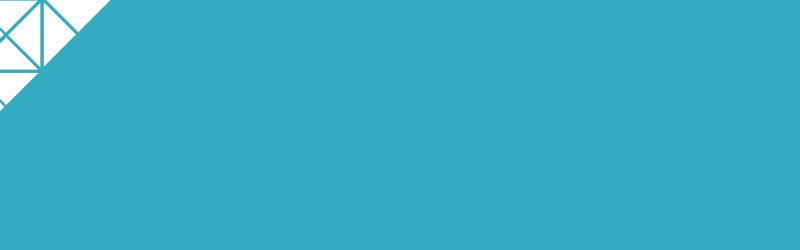 blue rectangle with pattern in corner