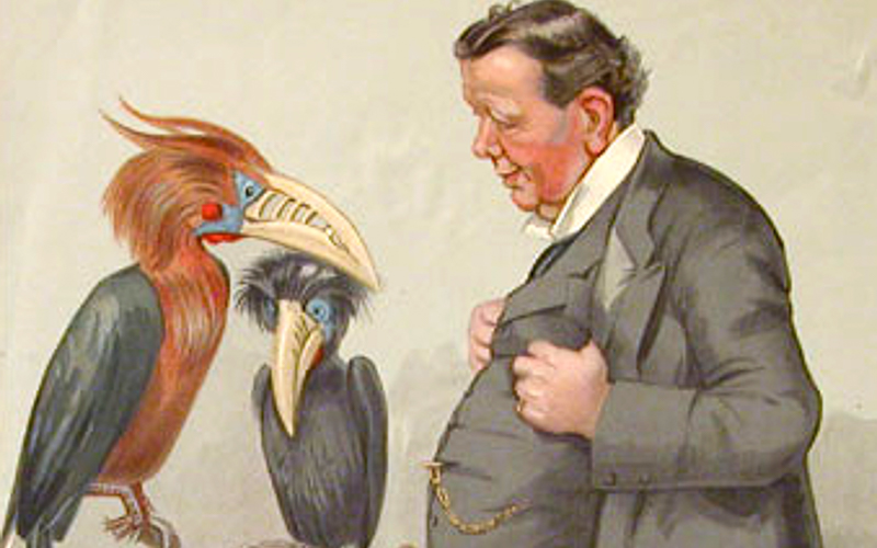 illustration of Ray Lankester with animals