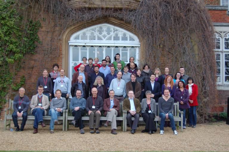 Research Department of Genetics, Evolution and Enviroment team photo outside Cumberland Lodge