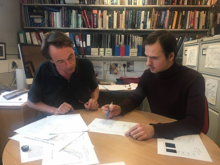 Photo of Prof David Gems and Dr Evgeny Galimov