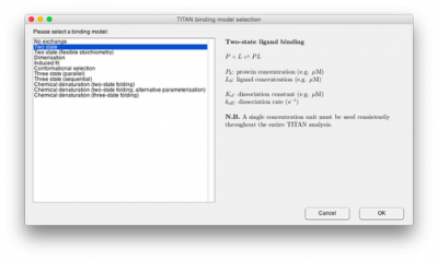 Selecting a binding model