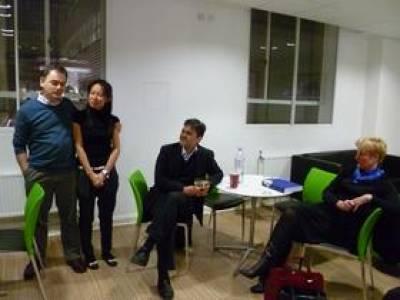Tanya's viva celebration with examiners