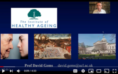 image of screen grab video on the Institute of Healthy Ageing