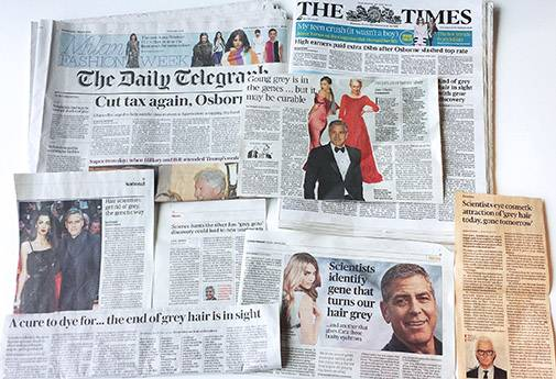 Hair paper UK news collage