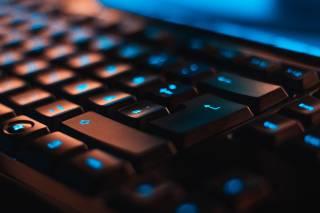 black computer keyboard up close
