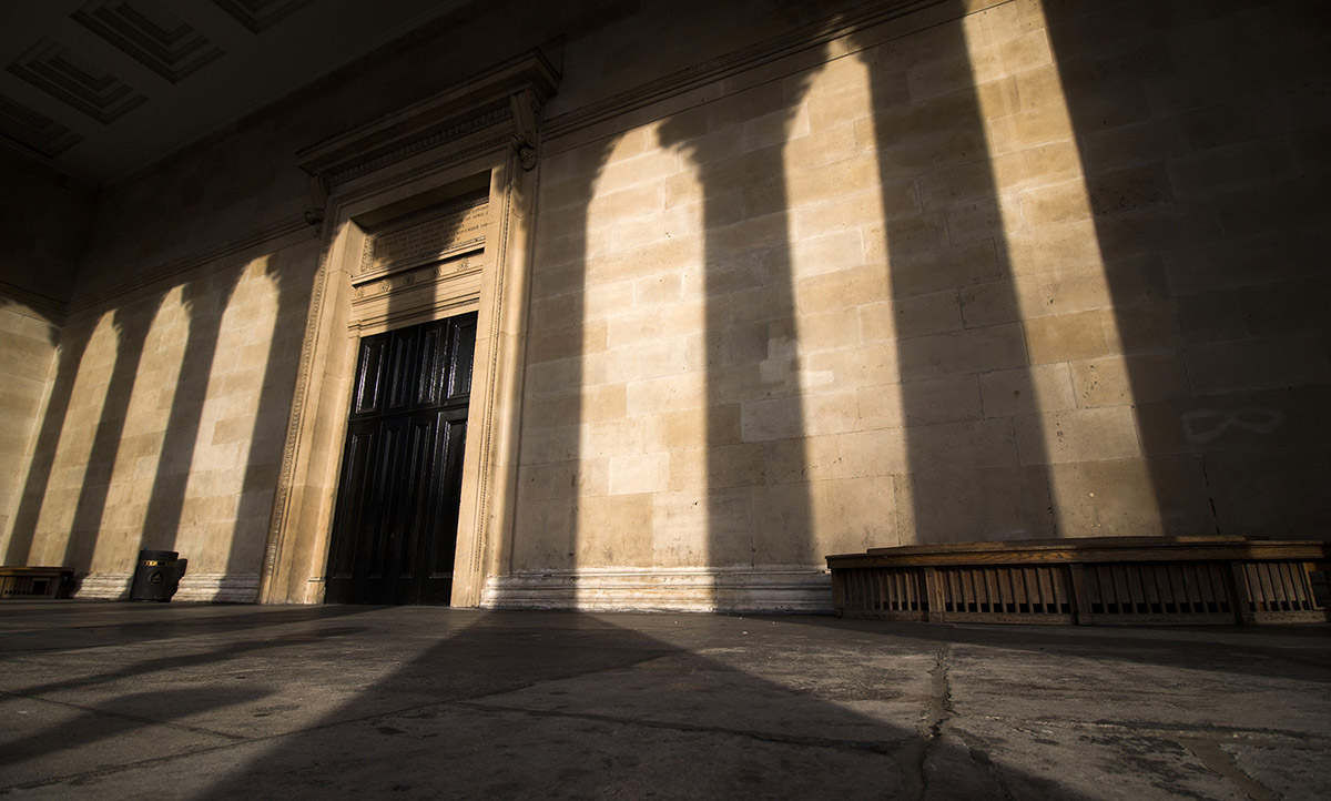 UCL Portico with shadow