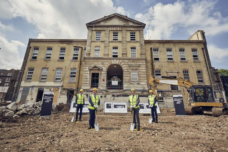 Breaking ground at the new facility for UCL Neuroscience