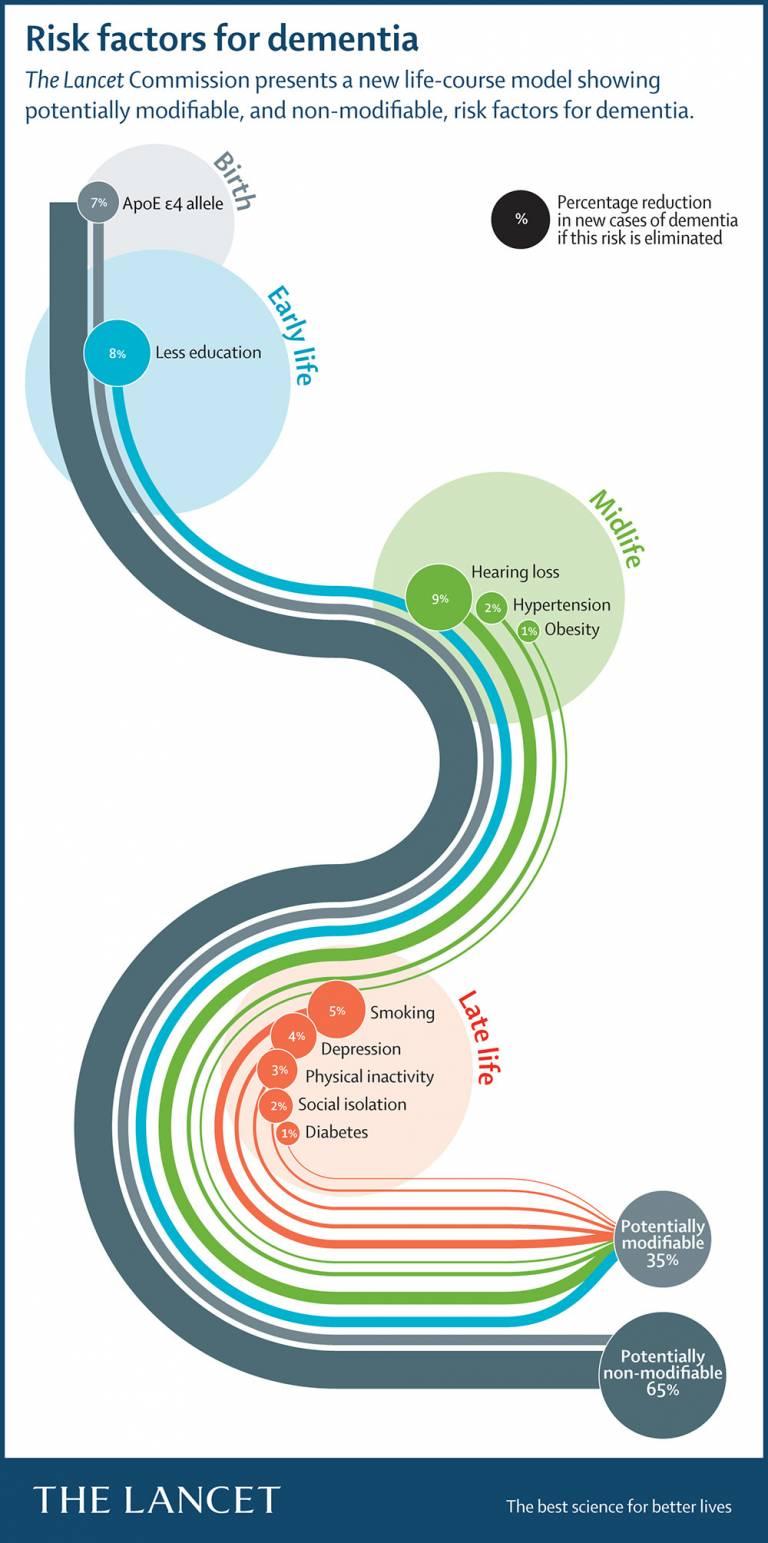 Lancet Commission infographic: risk factors for dementia