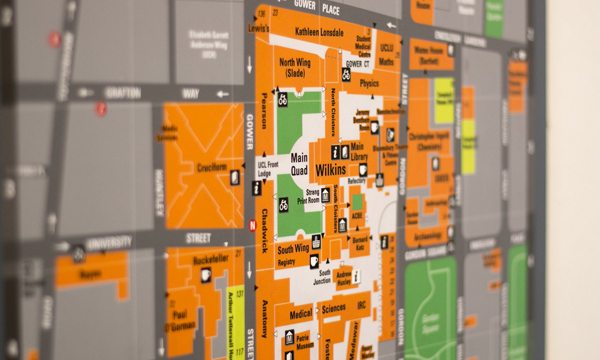 UCL main campus maps