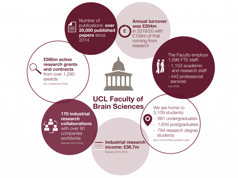 UCL brain sciences in numbers