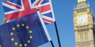 London and EU flags