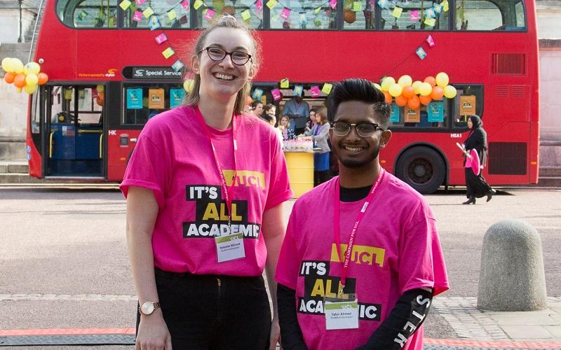 Two volunteers
