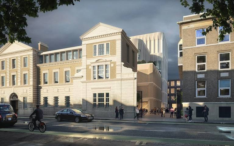 An artist's impression of the entrance to the Gray's Inn Road site