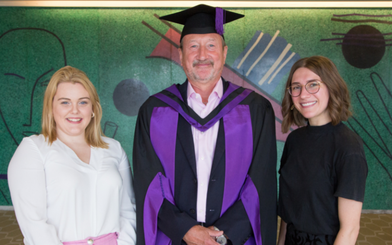 Steven Knight at graduation 2019