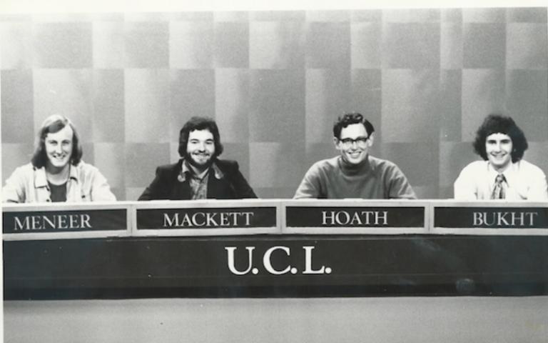 Chris Mackett's 1972 University Challenge team