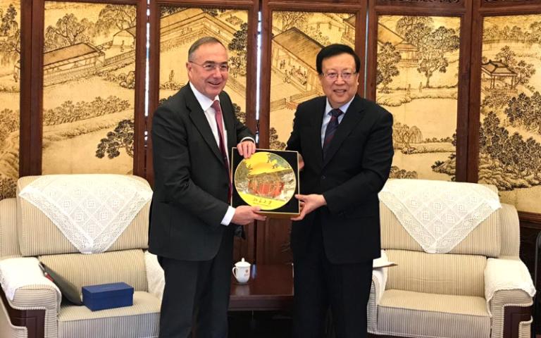 UCL President & Provost Professor Michael Arthur meeting with Peking University's President Hao Ping