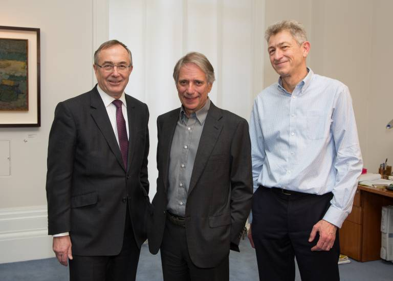 Michael Arthur, Sir Malcolm Walker and Professor Nick Fox