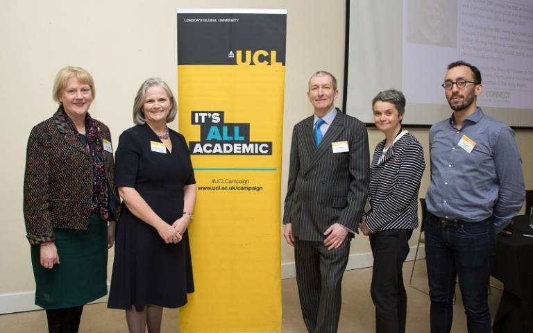 The all-alumni line-up for the UCL Connect: Disruptive Leadership event