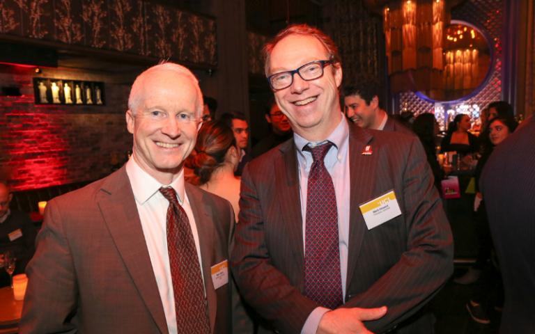 UCLFAA President Mark Howard with Treasurer Mark Cleary