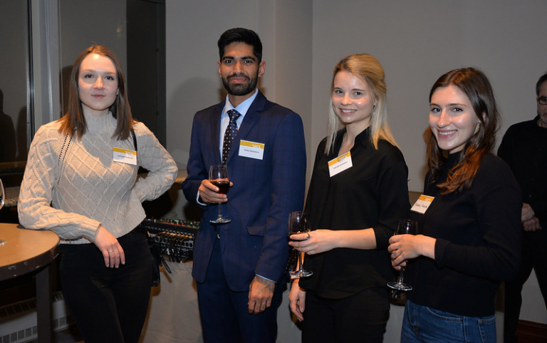 Attendees at the 2020 alumni and friends reception in Toronto.