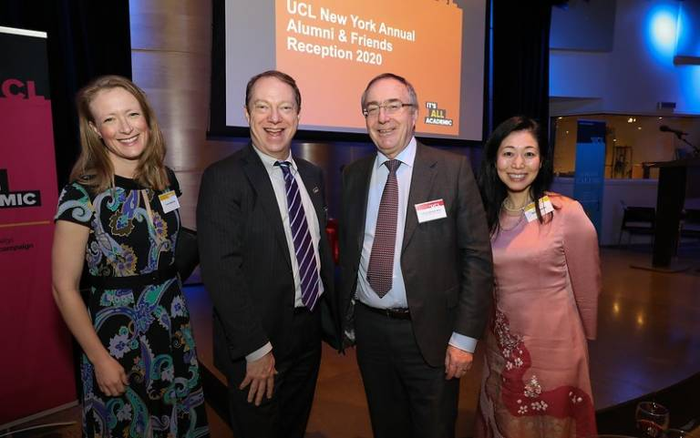 President & Provost, Professor Michael Arthur, with UCLFAA members and alumni