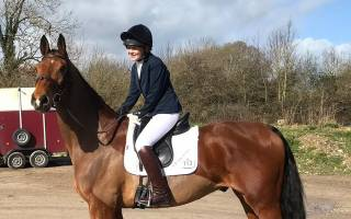 Sophie Hodges on a horse