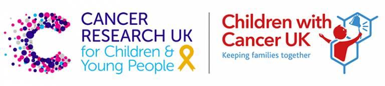 CRUK and Children with Cancer logo lockup
